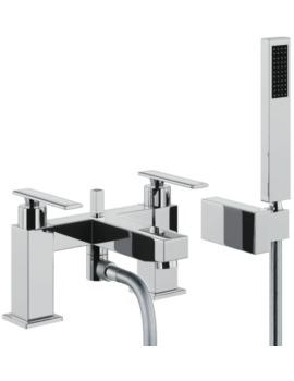 Abode Marino Deck Mounted Bath Shower Mixer Tap