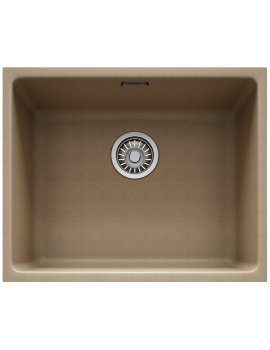 Franke Kubus KBG 110 50 Fragranite Oyster Undermount Sink -  1.0 Bowl