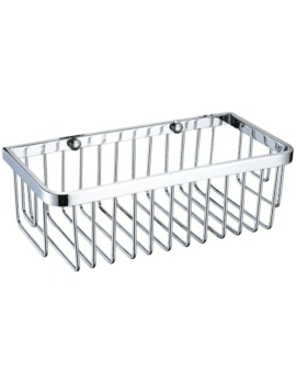 Heritage 250 x 120mm Rectangular Chrome Wire Basket