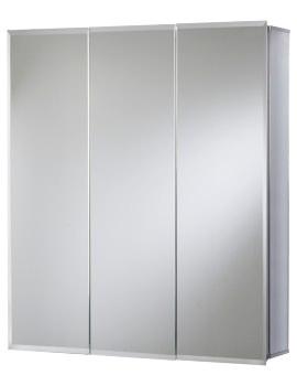 Croydex Loxley Tri-View Aluminium Mirror Cabinet 762 x 660mm
