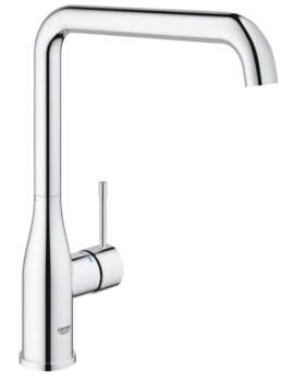 Grohe Essence Plus Single Lever L-Spout Kitchen Sink Mixer Tap Chrome