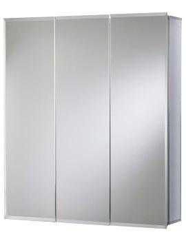 Croydex Grove Tri-View Aluminium Mirror Cabinet 610 x 660mm
