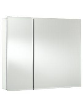 Croydex Halton Double Door Bi-View Aluminium Mirror Cabinet