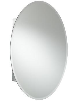 Croydex Orwell Single Door Oval Mirror Cabinet 370 x 500mm