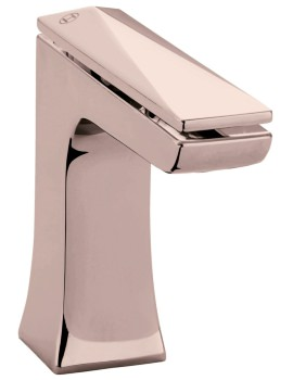 Heritage Hemsby Rose Gold 1 Taphole Basin Mixer Tap With Waste