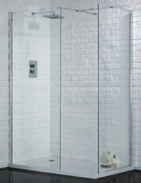 Aquadart Wetroom 1000mm Walk-In Shower Glass Panel