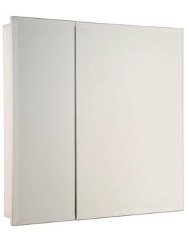 Croydex Dempsey Double Door Stainless Steel Cabinet 610 x 610mm