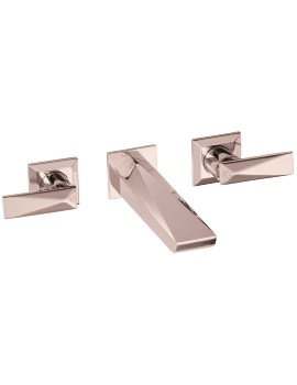 Heritage Hemsby Rose Gold Wall Mounted Basin Mixer Tap