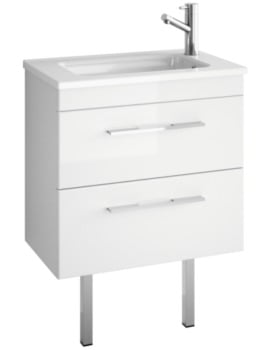 Croydex Chinnock 610mm white gloss Vanity Unit With Basin