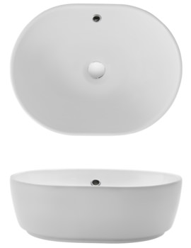 Bauhaus Gallery Pearl Countertop Basin With Overflow