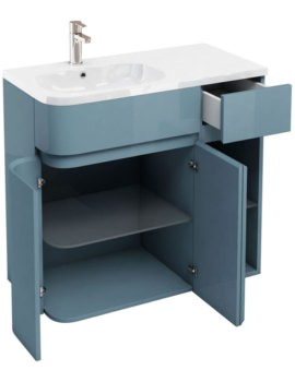 Britton Aqua Cabinets D450 Arc Ocean 900mm Left Hand Cabinet With Basin