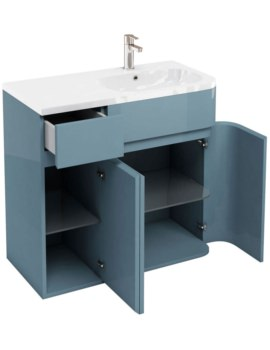 Britton Aqua Cabinets D450 Arc Ocean 900mm Right Hand Cabinet With Basin