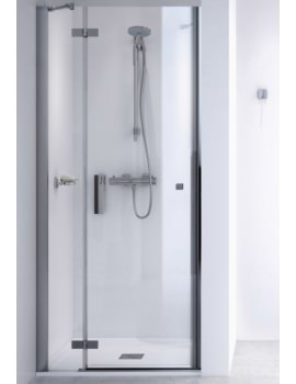 Aqualux ID Match Square 1000mm Recess Hinge Shower Door