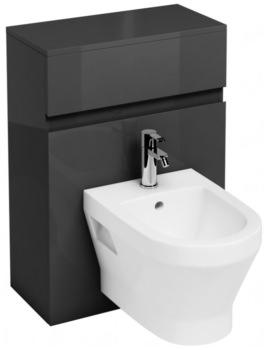 Britton Aqua Cabinets D300 Grey 600mm Wall Hung Bidet Unit