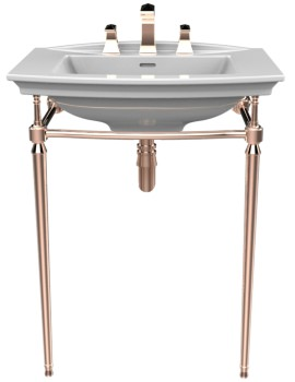 Heritage Abingdon Rose Gold Washstand For Blenheim Basin