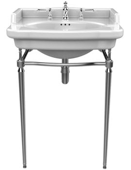 Heritage Abingdon Chrome Washstand For Victoria Basin