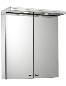 Croydex Shire Stainless Steel Double Door Illuminated Cabinet 450 x 530mm