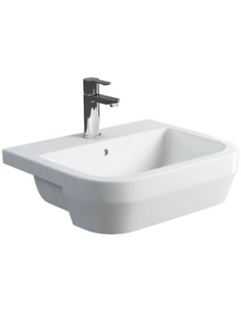Britton Curve S30 55cm Semi Recessed Basin