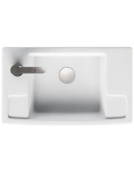 Britton Deep Cloakroom Washbasin - Left Handed