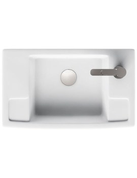 Britton Deep Cloakroom Washbasin - Right Handed