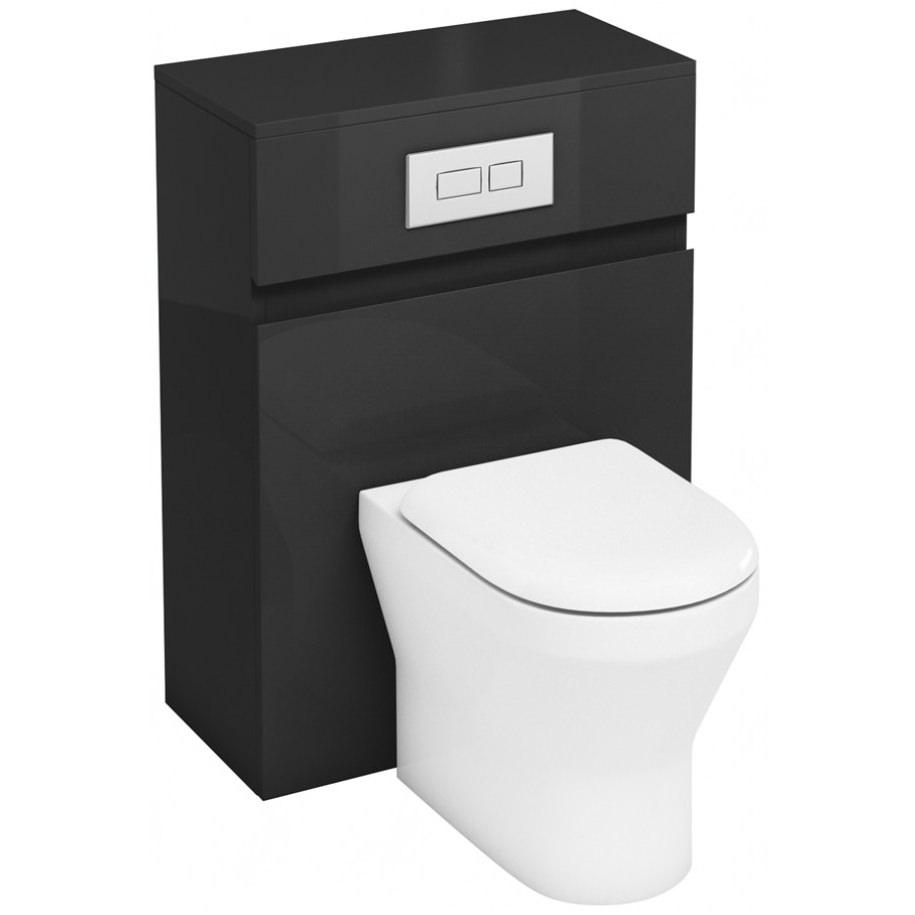 britton aqua cabinets d300 grey 600mm btw wc unit with. Black Bedroom Furniture Sets. Home Design Ideas