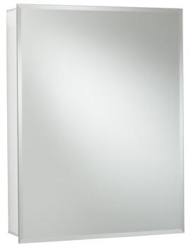 Croydex Haven Single Door Mirror Cabinet 610 x 760mm