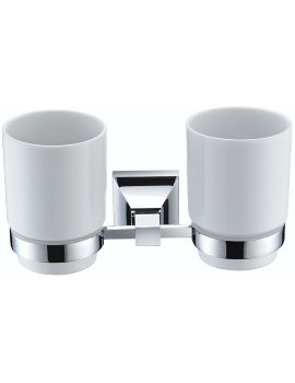 Heritage Chancery Double Tumblers And Chrome Holder
