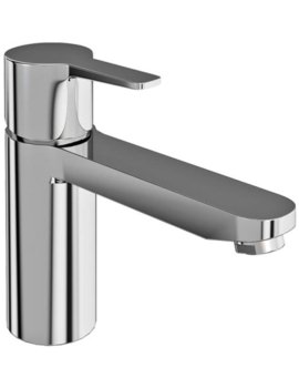 Britton Crystal Single lever Bath Filler Tap Chrome