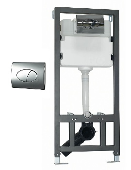 Phoenix WC Wall Mounting Fixing Frame With Cistern And Round Face Plate