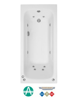 Phoenix Crystal Amanzonite 1800 x 700mm Single Ended Whirlpool Bath