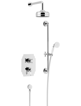 Heritage Glastonbury Recessed Thermostatic Chrome Valve With Head And Kit