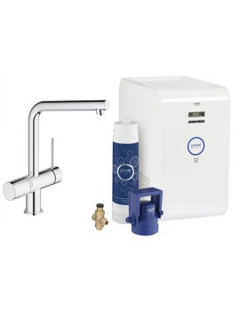 Grohe Blue Minta Chilled Kitchen Sink Mixer Tap With Starter Kit Chrome