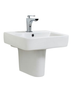 Phoenix Forma Dee 560mm Basin And Semi Pedestal - FO060