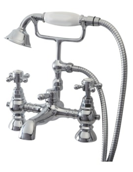 Phoenix HF Pillar Mounted Bath Shower Mixer Tap With Kit