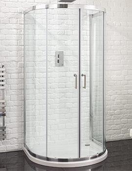 Aquadart Venturi 6 915 x 1040mm U Shaped Double Door Shower Quadrant