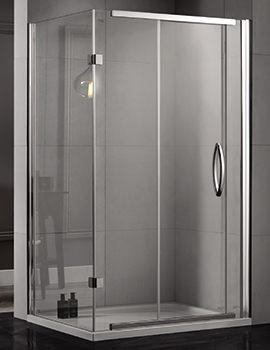 Aquadart Inline 1200 x 800mm 2 Sided Sliding Shower Door And Side Panel