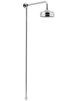 Heritage Chrome Shower Rigid Riser Fixed Kit With Rose