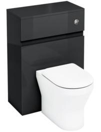Britton Aqua Cabinets D300 Black BTW WC Unit With Push Button Cistern