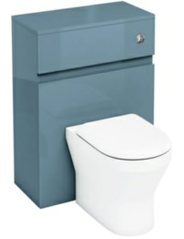 Britton Aqua Cabinets D300 Ocean 600mm Wall Hung WC Unit With Push Button