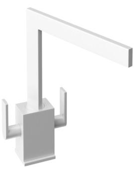 Abode Edge Monobloc Kitchen Sink Mixer Tap Gloss White