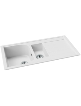 Abode Oriel Granite 1.5 Kitchen Bowl And Drainer Inset Sink