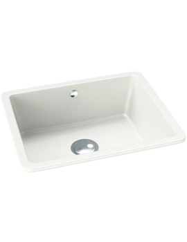 Abode Matrix SQ GR15 White Granite Large Main Bowl Kitchen Sink