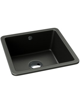 Abode Matrix SQ GR15 Black Metallic Granite Single Bowl Kitchen Sink