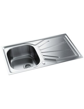More Info Abode / AW5054. View Gallery. Abode Trydent Stainless Steel  Single Bowl And Drainer Inset Kitchen Sink ...