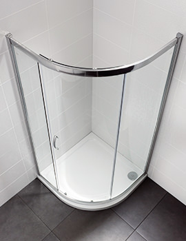 April Identiti2 800 x 800mm Single Door Shower Quadrant