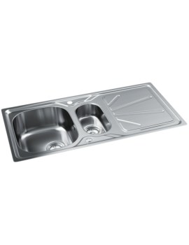 Abode Trydent Stainless Steel 1.5 Bowl And Drainer Inset Kitchen Sink