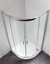 April Identiti2 900 x 900mm Double Door Shower Quadrant