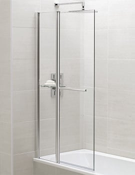 April Identiti2 900 x 1400mm Square Fixed Panel Bath Screen