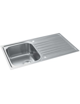 Abode Connekt Flushfit Stainless Steel Single Bowl And Drainer Kitchen Sink