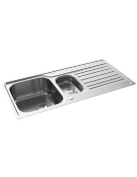 Abode Connekt Flushfit Stainless Steel 1.5 Bowl And Drainer Kitchen Sink